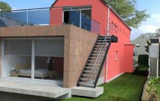 Architektur Visualisierung Anbau Trierweiler 1