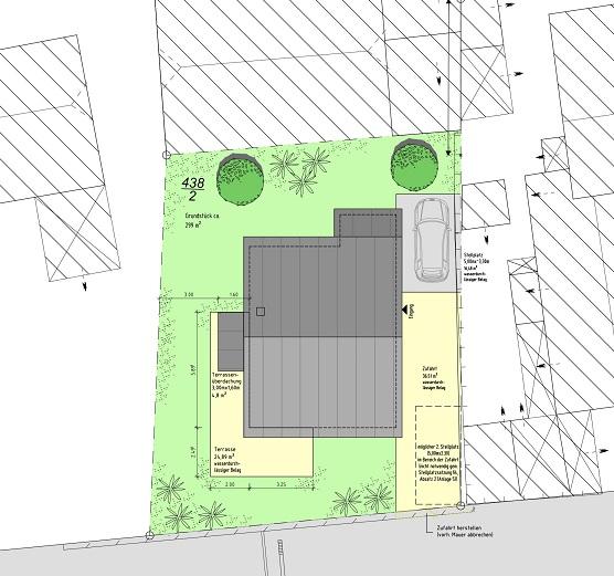 Bauantrag-Freiflächenplan