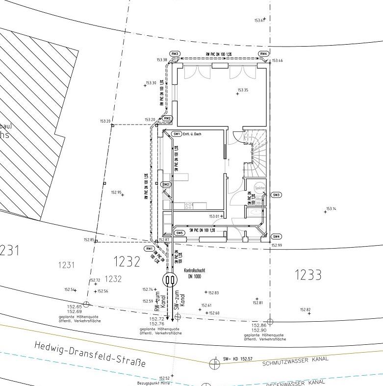 Bauantrag_Entwässerungsplan