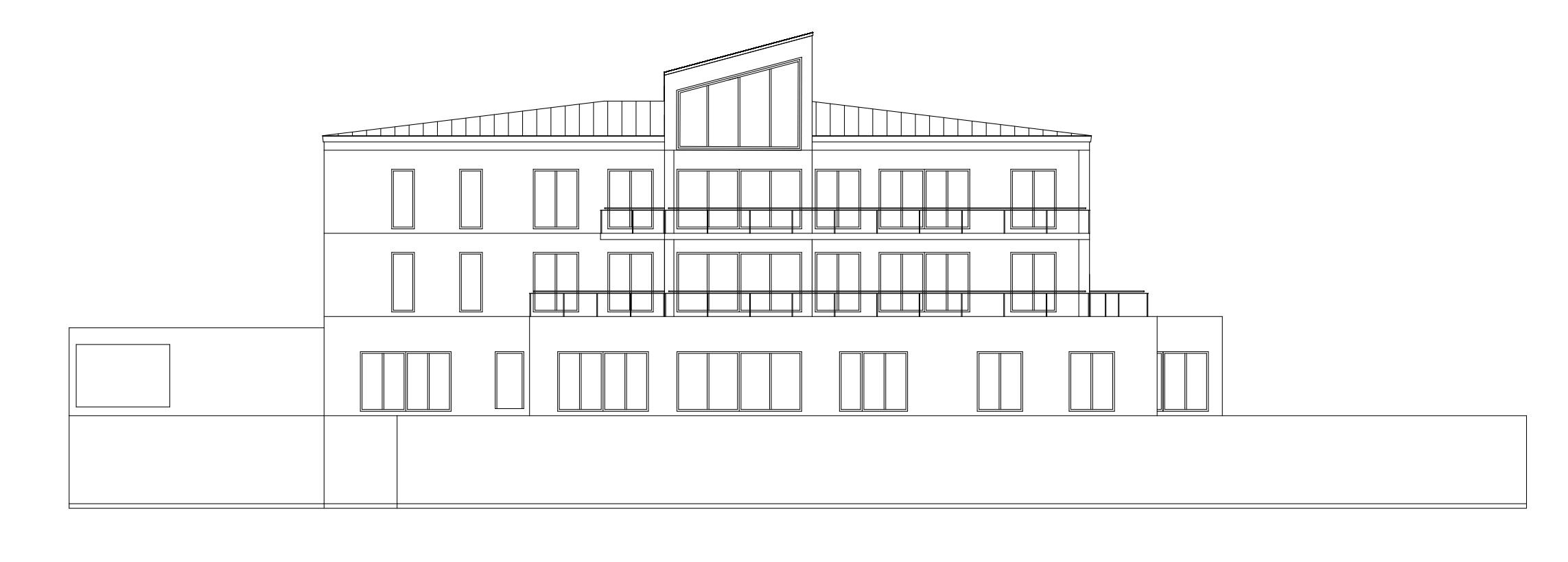 CAD Gebäudeansicht