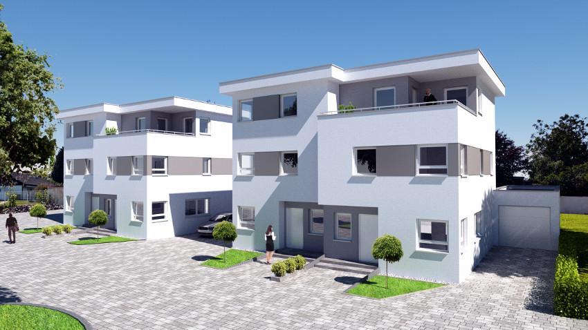 Architektur Visualisierung Doppelhäuser