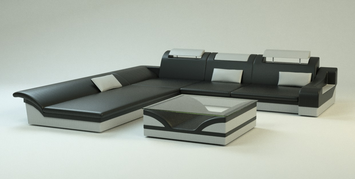 Produkt-Visualisierung Couch Monza