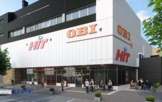 Architektur 3D Visualisierung Hit-Markt Frankfurt