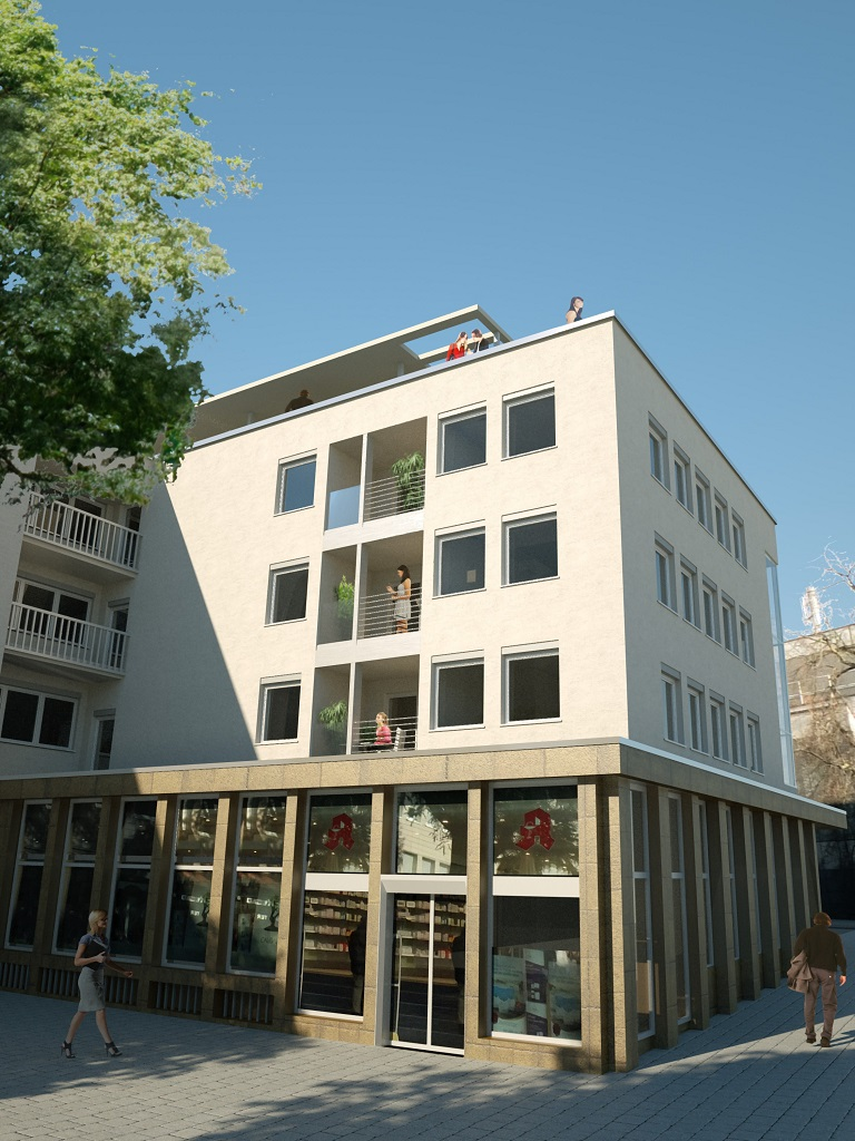 3D Architektur-Visualisierung Kornmarkt