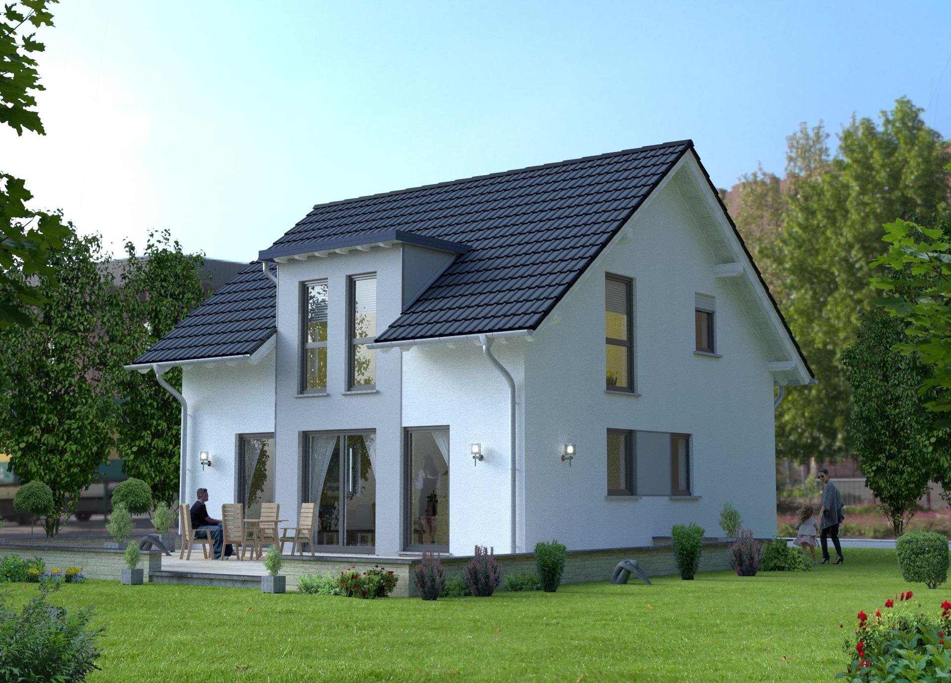 Architektur-Visualisierung Einfamuilienwohnhaus