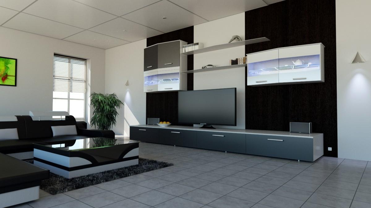 Innen-Visualisierung Wohnzimmer