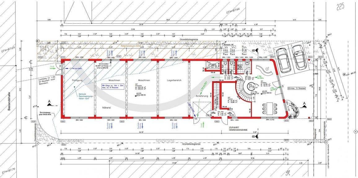 Neubau einer Produktionshalle mit Bürotrakt