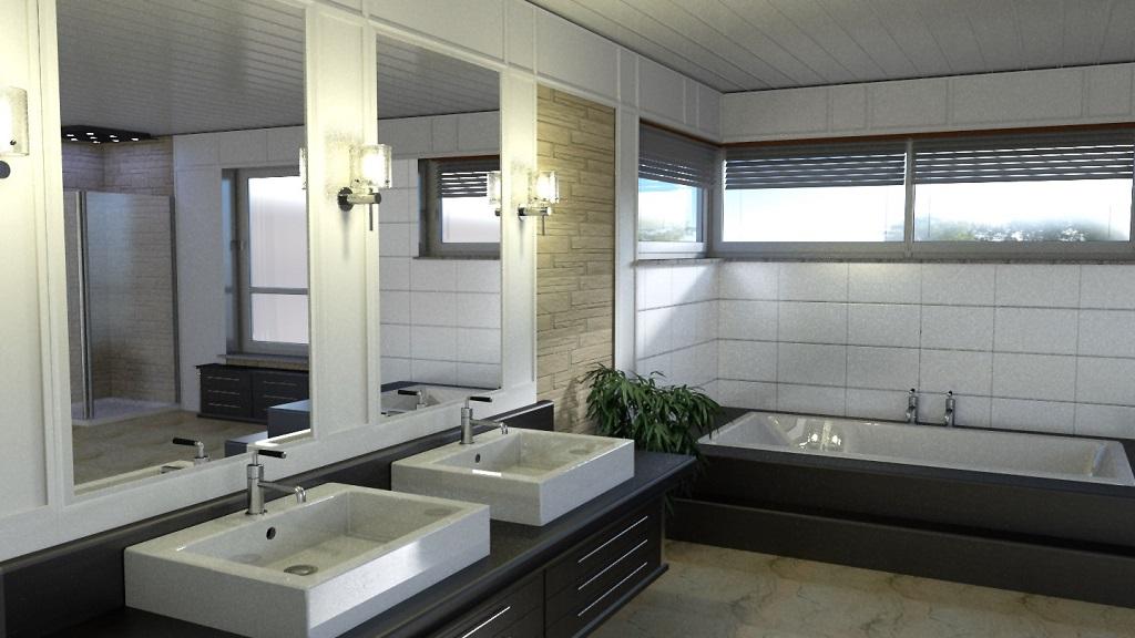3d innenvisualisierung badezimmer planung klein. Black Bedroom Furniture Sets. Home Design Ideas