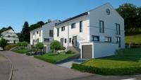 Architekturvisualisierung Doppelhaus